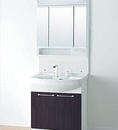 洗面化粧台 Kシリーズ W750 三面鏡 LED